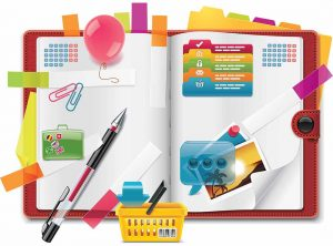 Vector personal organizer features XXL detailed icon