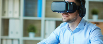 Virtual reality touch with the entertainment